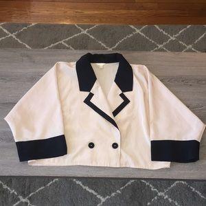 Kimono Inspired Crop Blazer